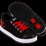 heelys blk red