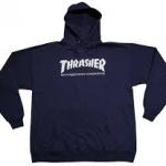 thrasher hoodie blue