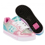 Heelys Motion Plus - SilverLight PinkLight Blue