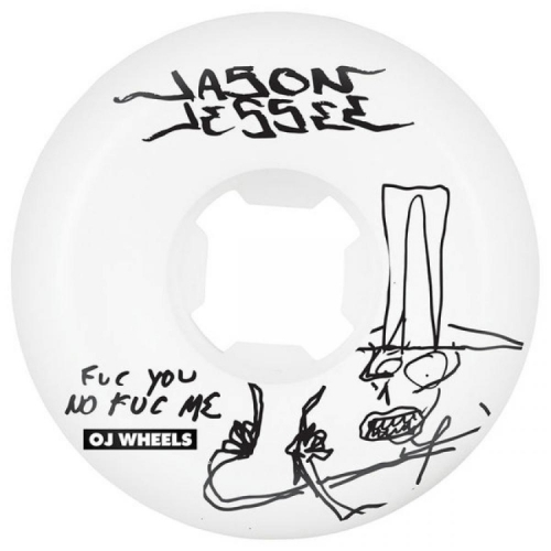OJ Skateboard Wheels - F You No F Me Jessee White 58mm