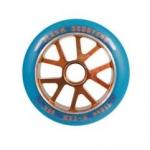 slamm 110mm alu core wheels bue and orange