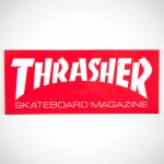 thrasher sticker red