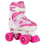 Rookie Kids' Adjustable Quad Skates - Pulse PinkWhite