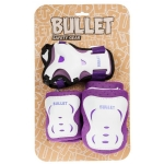BULLET BLAST JUNIOR TRIPLE PADSET - PURPLE:WHITE