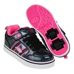 Heelys Bolt Plus Light Up - Black HologramPink